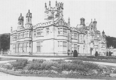 The Castle in its heyday, showing the Terrace, South and West Fronts, c:1900