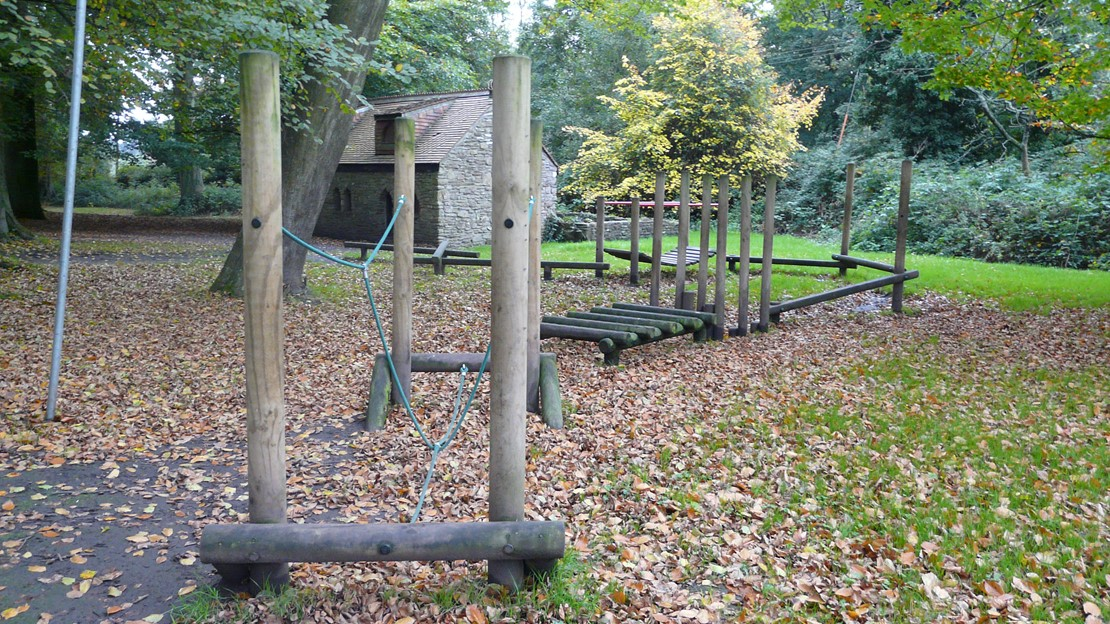 Wooden play trail
